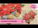 Adorno Navideño con Flores de Navidad y Esferas Diy