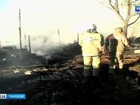 ВестиТамбов Пожарные дознаватели устанавливают причины возгорания надворных построек в Вести 24