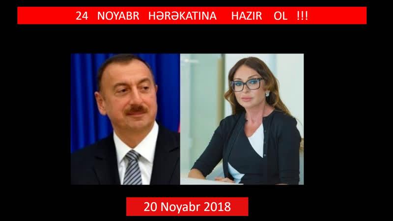 20.11.2018 24 Noyabr hərəkatına hazırsınzmı? Heydərizmdən xilas olmanın vaxtı deyilmi?