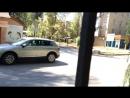 4.09.2018 Внимание! особо опасный полицейский водитель грабитель возле отдела полиции в Аксае.