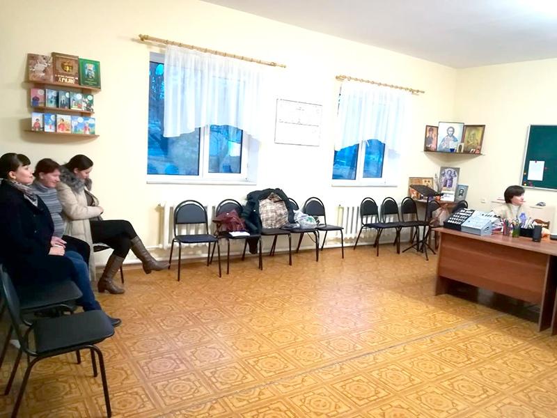 Занятие в школе материнства «Аист»