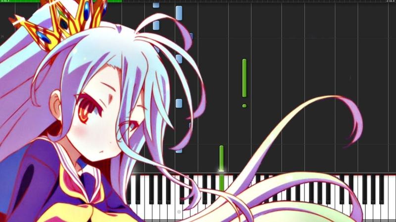 One Day Sky - No Game No Life: Zero [Piano Tutorial] (Synthesia) PianoPrinceOfAnime