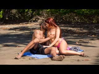 Gala brown sex on the beach (all sex, cum on pussy, cum shot, blowjob, pussy licking, beach, outdoors, ir, cowgirl, red head)