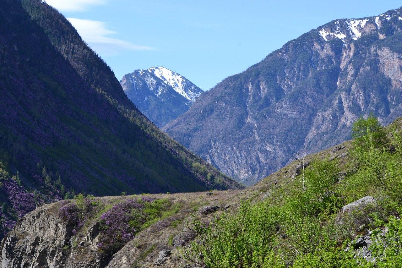 Тропа дорога к водопаду Учар