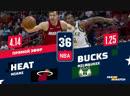 НБА РС 2018 19 Майами Хит Милуоки Бакс НА РУССКОМ