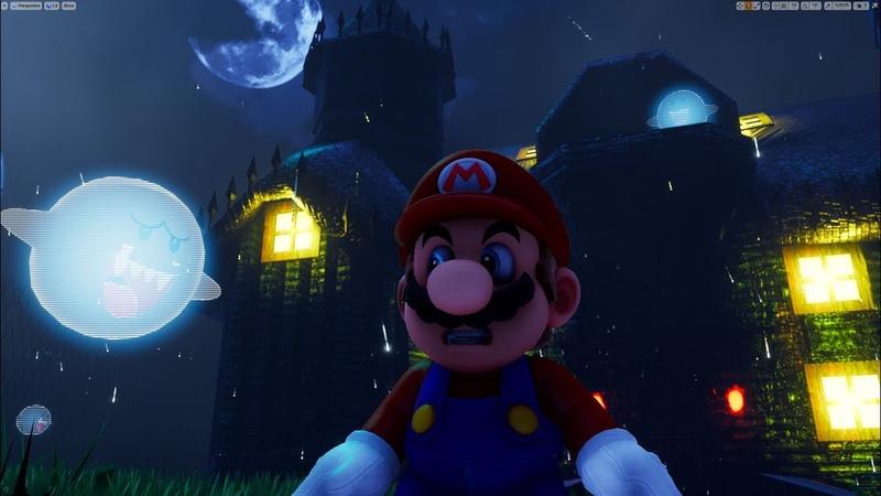 Unreal Engine 4 [4.20.2] Super Mario 64 Haunted House