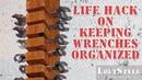Life Hack on keeping Wrenches organized Лайфхак для хранения гаечных ключей