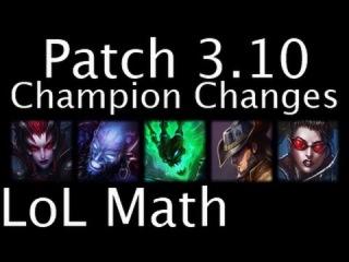 LoL Math - Patch  Champion Changes