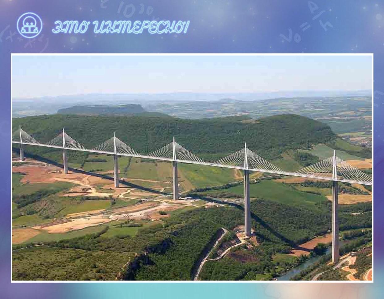 Самый высокий мост в мире Виадук Мийо.