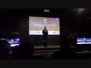 Руководитель PETERSBURG CUP 2019 Светлана Патрушева на открытии киберспортивной площадки ТЕККЕН Арена