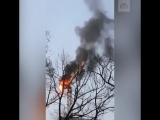 В Питере сгорел башенный кран