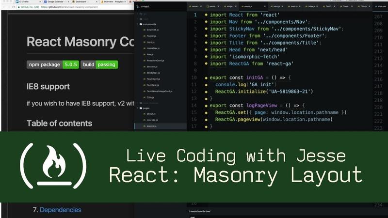 React: Masonry Layout - Live Coding with Jesse