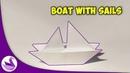 Лодка с парусами Оригами Инструкция