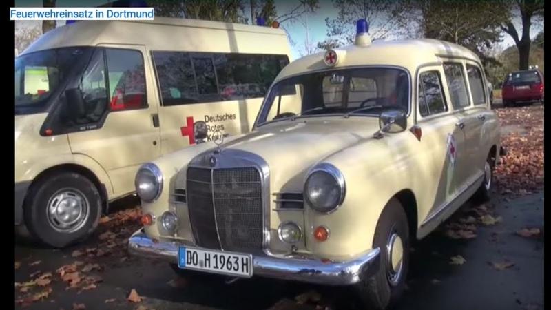 Feuerwehreinsatz in Dortmund - DRK Oldtimer Krankenwagen - Großeinsatz HiOrgs