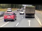 Момент страшной аварии на Минском шоссе
