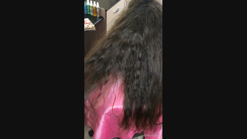 Кератиновое выпрямление волос. Оксана Майская