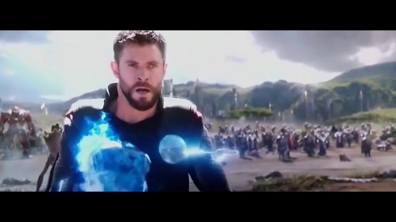 Появление Тора. Фильм Мстители Война Бесконечности 2018