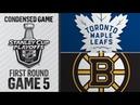 Toronto Maple Leafs vs Boston Bruins | Apr.19, 2019 | Game 5 | Stanley Cup 2019 | Обзор