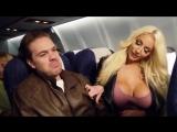Nicolette Shea and Ryan Ryder Грудастая блондинка успокаивает пассажира