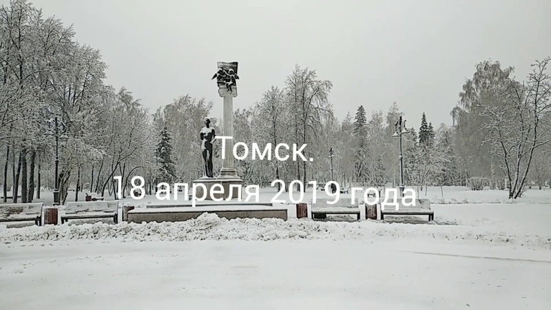 Сибирский коллапс. Снегопад в апреле. 18.04.2019. Томск.
