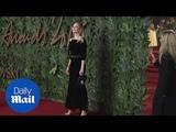 Uma Thurman oozes glamour in velvet at British Fashion Awards