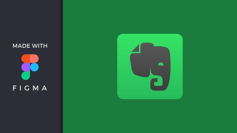 Figma howto - making evernote app icon