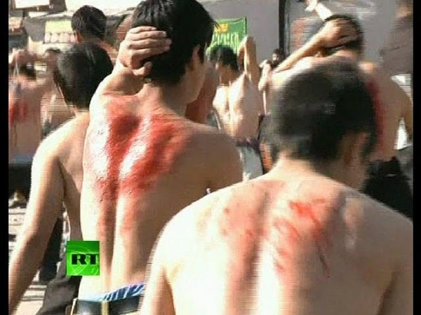 Graphic video Shiites whip themselves bloody in Afghanistan
