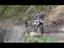 HONDA XR250R KONA UNIT KAWASAKI KDX125 【富山】人喰い谷 五箇山旧道群 2014.5.04