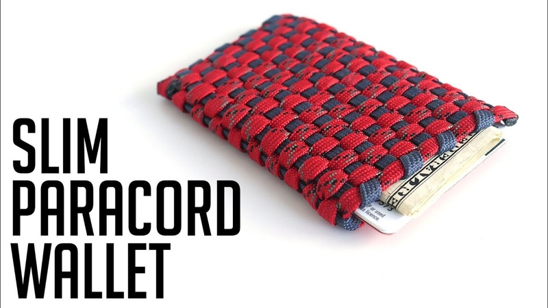 How To Make A Slim Paracord Wallet Tutorial | Paracord Card Holder