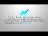 2.  Заработок в интернет теперь доступен каждому! Бизнес инкубатор Zevs