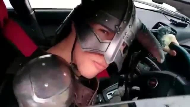 Довакин - нарушитель ПДД (dovahkiin Dragonborn violators of traffic rules)