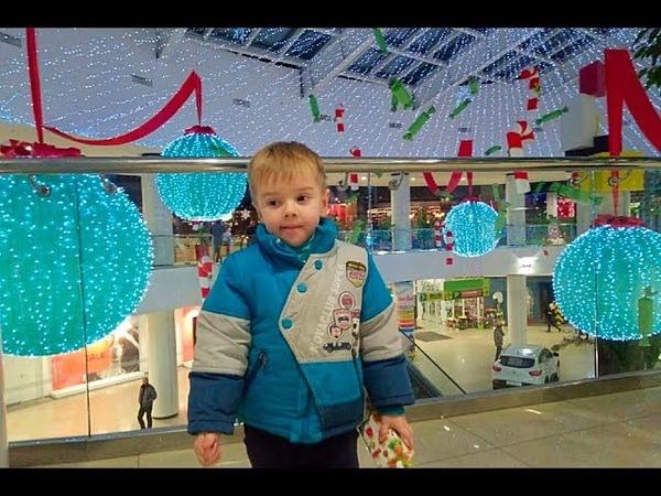 АРТ ОБЗОР 5Серия Сити Центр Одесса Новогодние Инсталляции Елка и Цены на игрушки Часть1(12.12.2017)