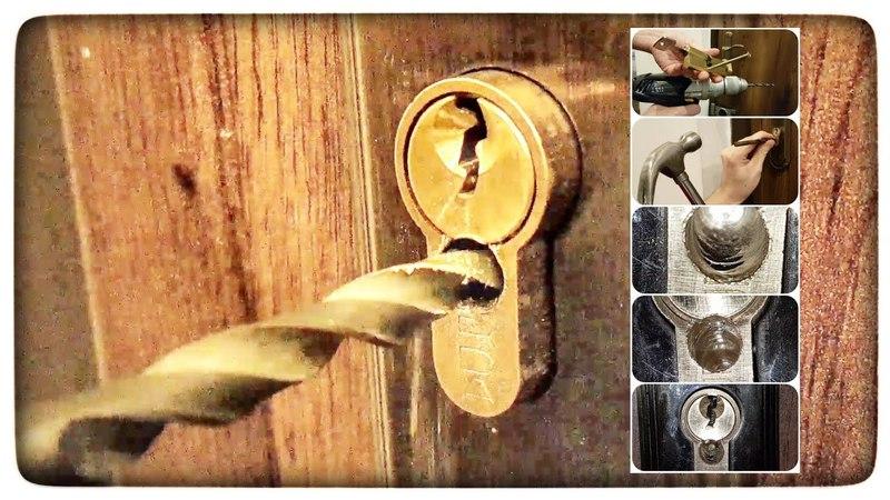 Jak rozwiercić wkładkę zamka w drzwiach ? Awaryjne otwieranie drzwi