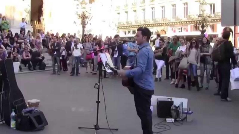 Imagine by John Lennon, performed by Youri Menna, Paris, 10/18/2014