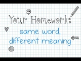 Same Word, Different Meaning Your Sentences