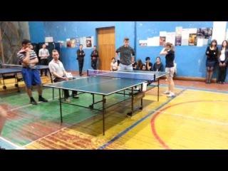Настольный теннис (соревнования). Третья наша игра (09.04.2014). Мы - Они - 2:0