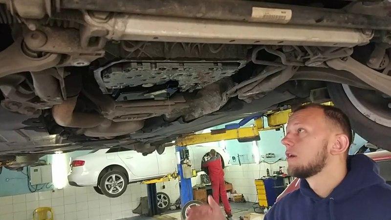 Audi A5 замена задних колодок, замена масла в КПП