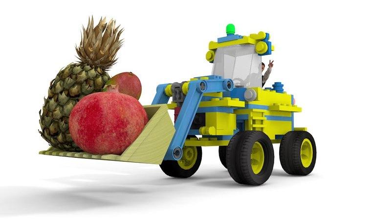 🙄 ФРУКТЫ 😉 ЛЕГО ТРАКТОР 😃 мультик про фрукты для детей - Учим названия фруктов