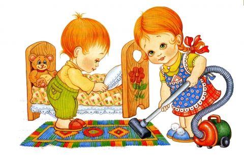 КАК ВОСПИТАТЬ В РЕБЕНКЕ ПОМОЩНИКА? Мы привыкли к тому, что дети наводят дома хаос, раскидывают игрушки и не дают нам спокойно прибраться. В том, что малыш устраивает беспорядок, виноваты сами родители. Стоит всего лишь сменить тактику поведения, и вы не узнаете своего ребенка. 10 простых, но очень эффективных советов для умных мам. 1. Делать вместе Распространенная мамина фраза: «Иди, поиграй, я занята» — серьезная ошибка на пути воспитания настоящих помощников. Занимайтесь домашними делами…