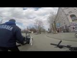 ДТП велосипедист - Honda, Новосибирск.mp4