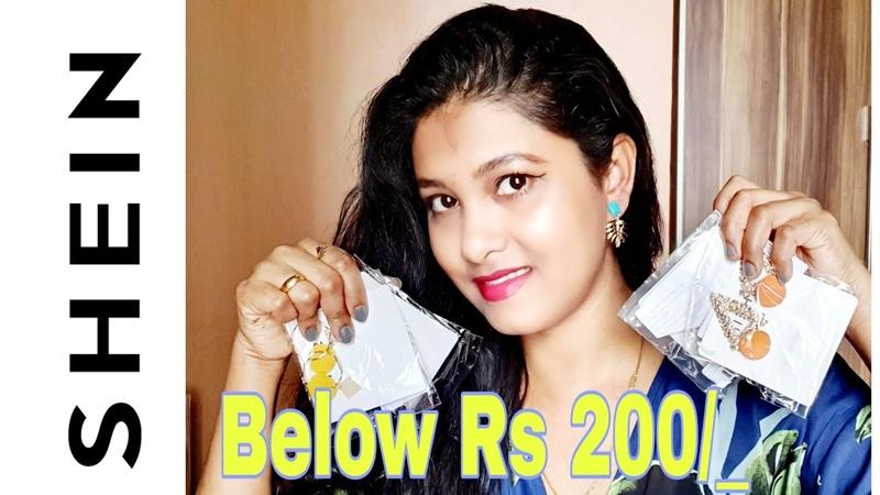 SHEIN Jewellery Below Rs 200 Shein Jewellery Haul Review
