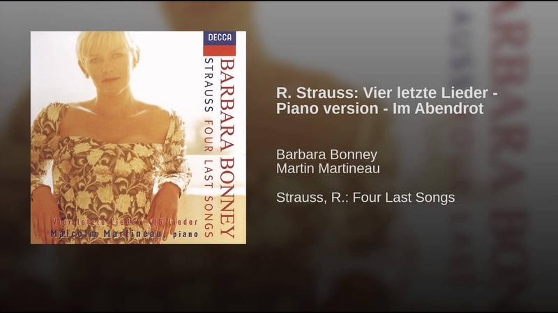 R. Strauss Vier letzte Lieder - Piano version - Im Abendrot