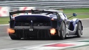 8 x Ferrari FXX K EVO Pure Sound at Monza Circuit: Accelerations, Flames Hot Glowing Brakes!