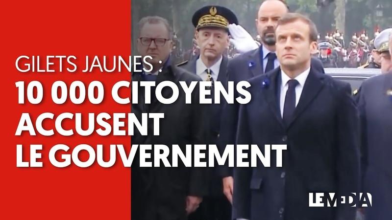 GILETS JAUNES 10.000 CITOYENS ACCUSENT LE GOUVERNEMENT DANS UNE PÉTITION