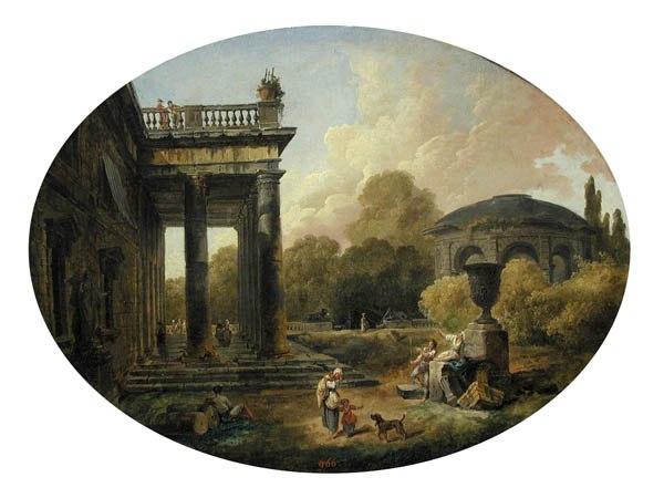Юбер Робер. Сад виллы Боргезе в Риме. 1772. Франция