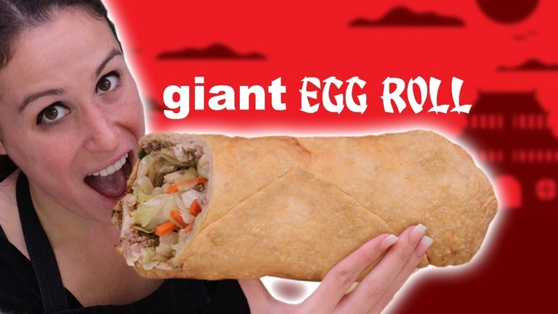 GIANT EGG ROLL VS GIANT EGG ROLL