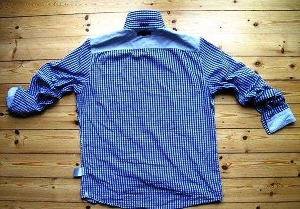 Подушка из мужской рубашки (3 фото) - картинка