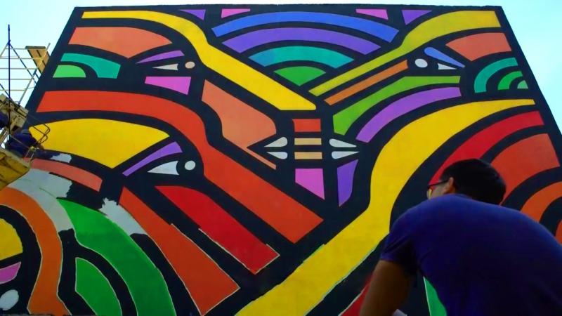 Як малювали мурал «Бесіда» на школі №30