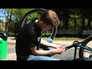 Как переставить односторонние шатуны на МТБ (How to swap singleside cranks MTB/BMX)
