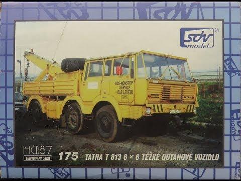 1/87 HO SDV Tatra T 813 6x6 Tezke Odtahove Vozidlo Kit 71504